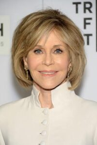 "NEW YORK, NY - APRIL 13:  Actress Jane Fonda attends ""The First Monday In May"" world premiere during the 2016 Tribeca Film Festival at John Zuccotti Theater at BMCC Tribeca Performing Arts Center on April 13, 2016 in New York City.  (Photo by Andrew Toth/FilmMagic)"