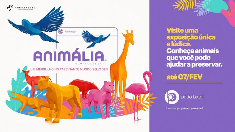 Animália, uma exposição única e lúdica, chega ao Pátio Batel neste período de férias