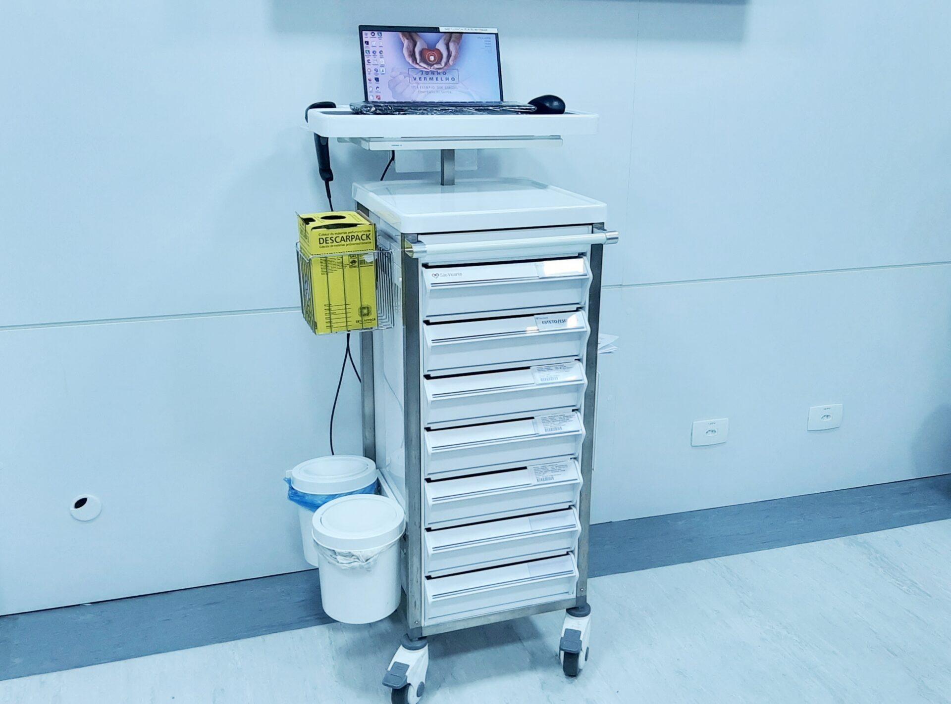 carrinho hospital são vicente