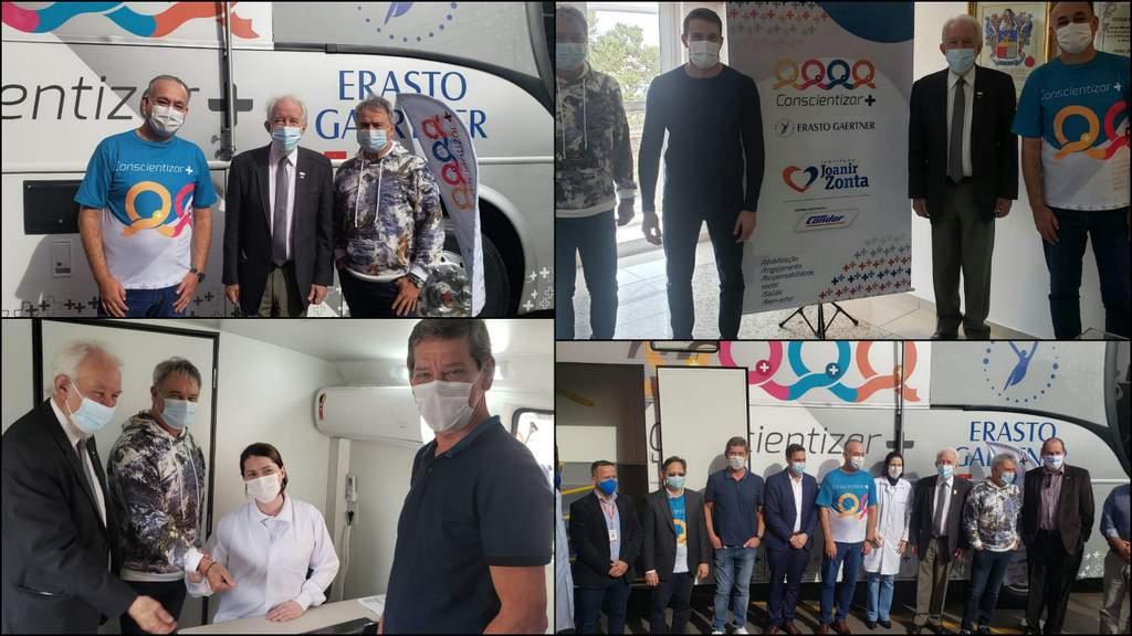 Condor recebe unidade móvel do Erasto Gaertner para prevenção e diagnóstico precoce contra o câncer