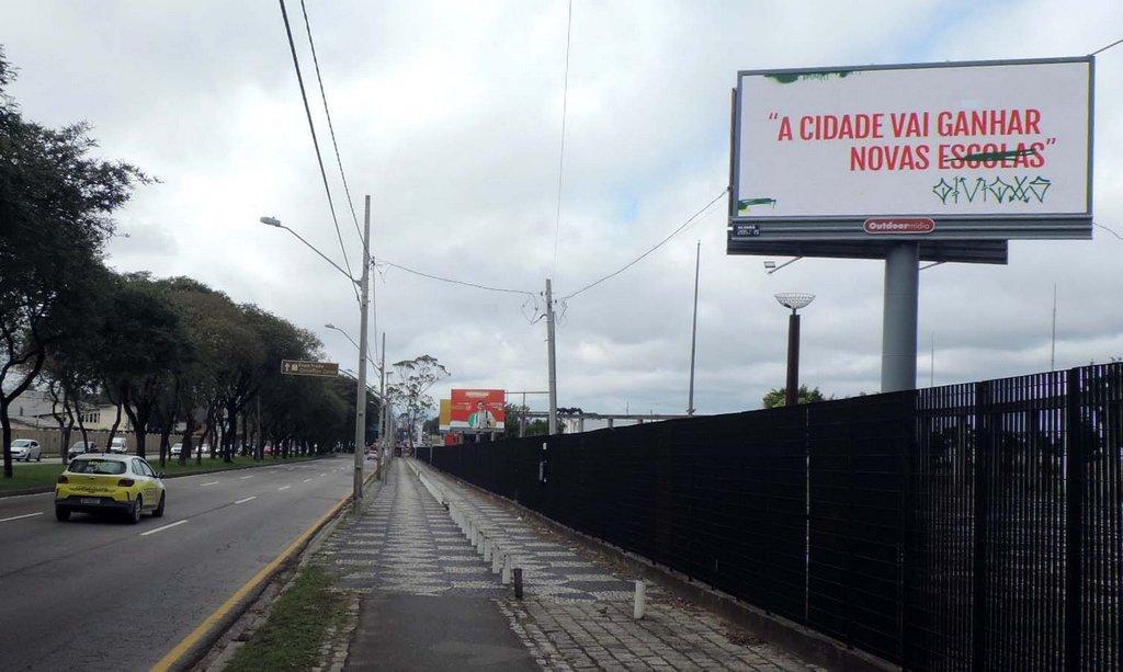 Campanha mostra como pichação coloca negócios e pessoas em risco